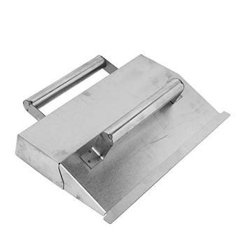 Truelle de plâtrage, outil à main de finition en béton à double poignée en acier inoxydable pour mur de poudre Plâtrage Outils de décoration de carrelage faciles à pousser et à tirer