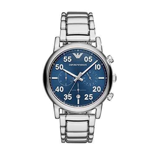 Emporio Armani Herren Chronograph Quarz Smart Watch Armbanduhr mit Edelstahl Armband AR11132