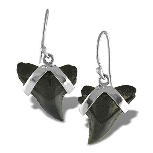 Starborn genuine Carcharhinus 925 Sterling Silver Earrings (Jewellery)