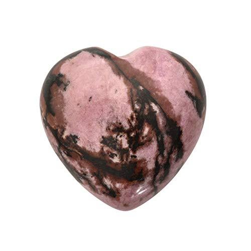 PESOENTH Heart Worry Stones Anxiety,Rhodochrosite Palm Stone...