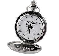 Relógio de bolso - fullmetal alchemist prateado cosplay