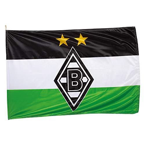Unbekannt VFL Borussia Mönchengladbach Herren Borussia Mönchengladbach-Fohlenelf-Artikel-Hissfahne Raute-150 x 100 cm Flagge, Mehrfarbig