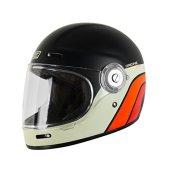 Origine - Vega - Casco integral de fibra de vidrio –Café Racer M ( 57-58 CM ) Classic Black