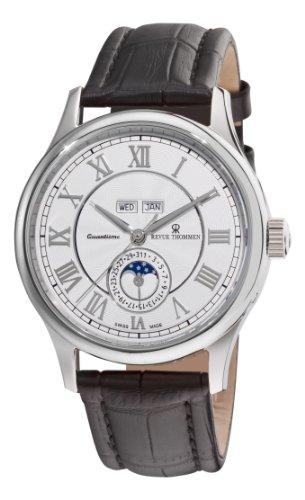 Revue Thommen Herren Analog Automatik Uhr mit Leder Armband 16066.2532