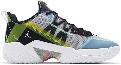 Nike Men's Wolf Grey/Fireberry-Aurora Green-Black Shoes - 7 UK (7.5 US)