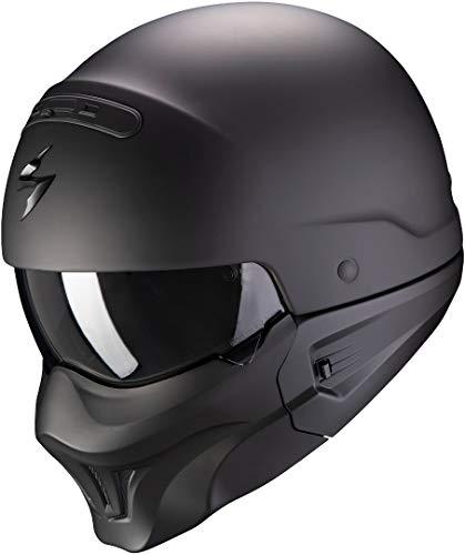 SCORPION Nc Casque Moto Hommes, Noir, M