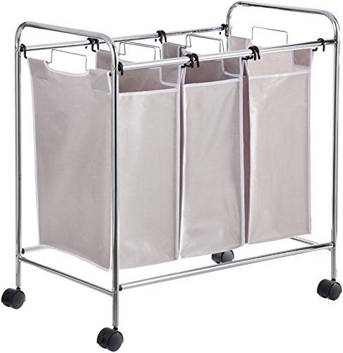 AmazonBasics - Wäschesortierer mit 3 Taschen