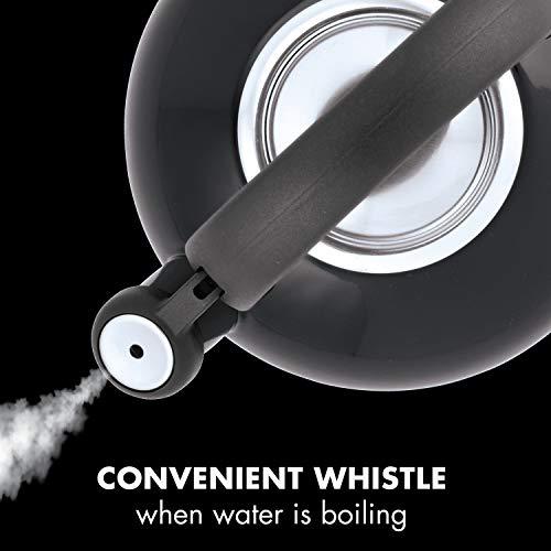Product Image 1: Circulon Sunrise Whistling Kettle/Stovetop Teakettle/Tea Pot, 1.5 Quart, Black