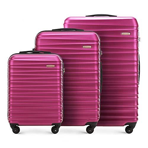WITTCHEN GROOVE Line Set di valigie, 77 cm, Rosa