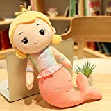Anyinghh 301-110 cm Sirena de Peluche de Juguete Almohada muñeca Linda Cama Princesa niña muñeca muñeca para niñas Lindo 30 cm Naranja Rojo