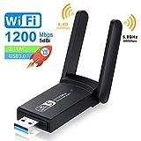 NEKAN Clé WiFi, Adaptateur WiFi USB 3.0 AC 1200Mbps Dongle,802.11 avec Dual...