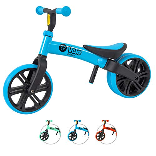 Yvolution Y Velo Junior Toddler Bike   No-Pedal Balance Bike   Ages 18 Months to 4 Years (Blue (New 2020))