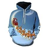 WLZQ Otoño E Invierno Suéteres De Navidad para Hombre Suéteres De Pareja De Navidad Sudaderas con Capucha Camisetas para Hombre Abrigo De Navidad Camisa De Fondo