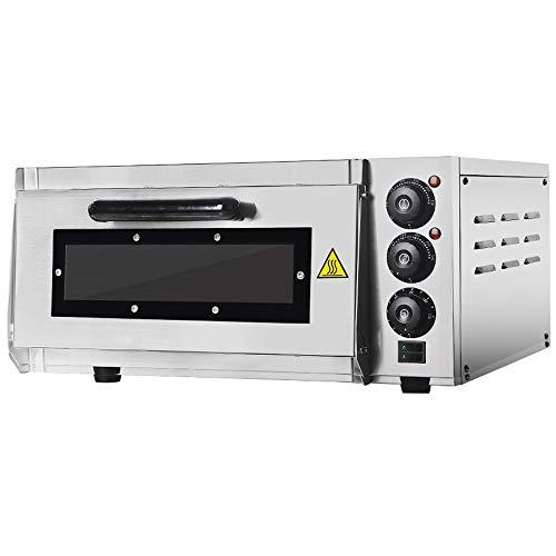 GZZT Forno per Pizza Elettrici Fornetti 400 X 400 mm professionale 2000W, 350°C Fornetto elettrico...