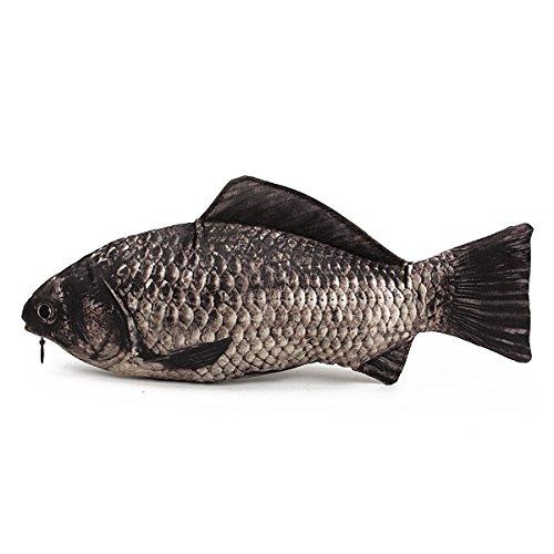 Leisial - Astuccio a forma di pesce, divertente portapenne