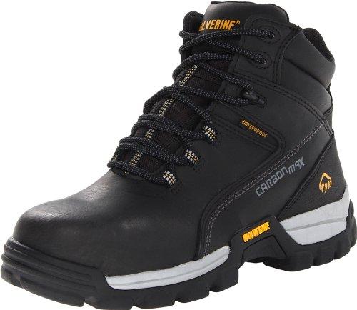 WOLVERINE Men's Tarmac Waterproof Reflective Composite-Toe 6' Work Boot, Black, 7 M US