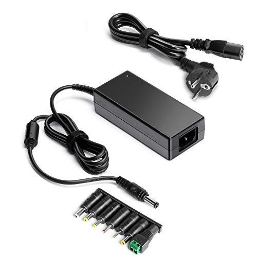 HKY 12V 5A Trasformatore 60W Alimentatore Universale Adattatore per Strisce LED 2835/3528/5050, Router, WLAN, Stampante, Scanner, Telecamera CCTV, Hard Disk, Monitor LCD TFT, Freebox V5 HD V6
