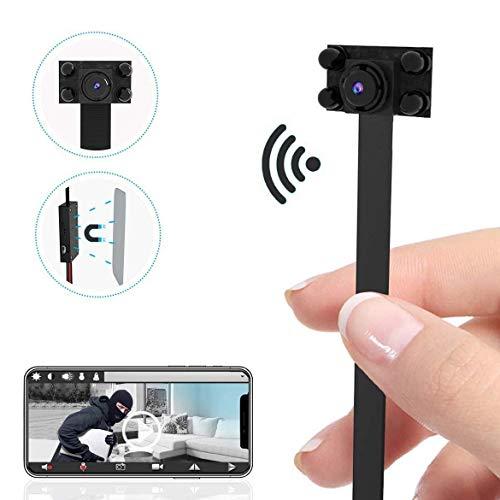 Telecamera WiFi 90° Mini Telecamera Spia - 4K HD Camcorder DIY Camera di sicurezza 2500mAh Home Security Camera con Night Vision/Motion Detection Nanny Cam, App supporta iOS/Android/PC