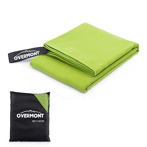 Overmont Toalla deportiva secado rápido de microfibra super absorbente, ideal para deportes, viajes, playa,M/L multicolor