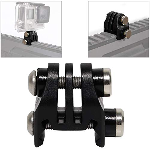 Aoutacc Supporti per Guida o Adattatore per Attacco Escavatore per Casco Picatinny Rails Supporto per Base per Casco NVG Videocamera per Azione GoPro(Black)