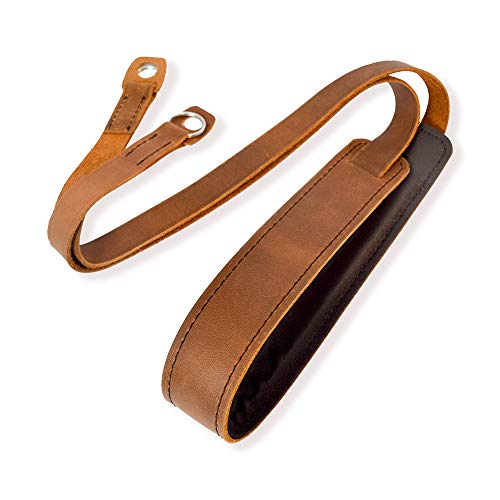 Camera Shoulder Neck Strap Vintage for All DSLR Camera Mirrorless Nikon Leica Fujifilm Sony Panasonic Canon Olympus Pentax Classic - Genuine Leather