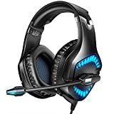 RUNMUS Gaming Headset for PS5, Xbox One, PC Headset with 7.1 Surround Sound, PS5 Headset with Noise Canceling Mic & LED Light, Compatible with New Xbox One, PC, PS5, PS4, Mac, Laptop