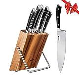 Aicok Ensemble de couteaux, Couteaux de chef avec bloc en bois,...