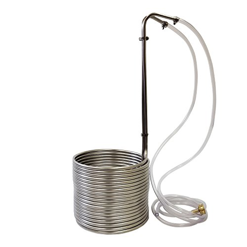NY Brew Supply - AZ-W3850-SV Stainless Steel Wort Chiller, 3/8' x 50', Silver