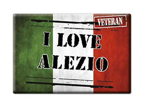 Enjoymagnets ALEZIO CALAMITA Magnete Puglia (Le) Italia Fridge Magnet Souvenir I Love (VAR. Veteran)