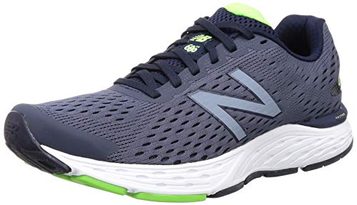 New Balance Men's 680 V6 Cushioning Running Shoe, Pigment/RGB Green, 10 X-Wide