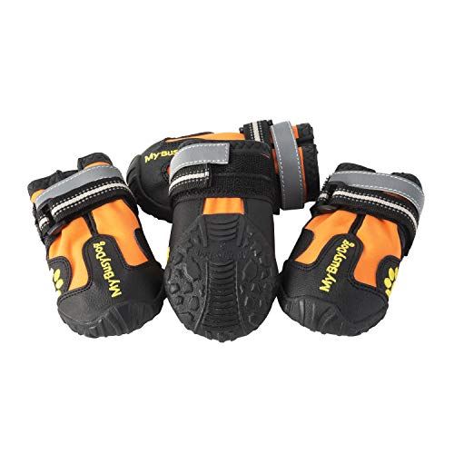 My Busy Dog Water Resistant Dog Shoes with Two...