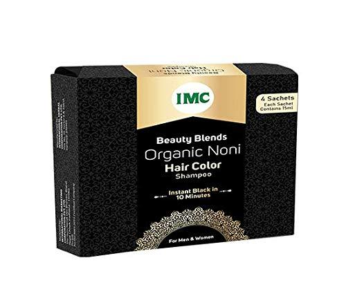 IMC Organic Noni Hair Color Shampoo, Herbal (Pack of 4)
