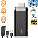 Wireless Display Adapter, Laiduoao 5G&1080P Wireless HDMI Display Adapter Miracast Dongle Streaming Media Player Mirroring Screen from Phone to Big Screen, Support 5G Miracast Airplay DLNA