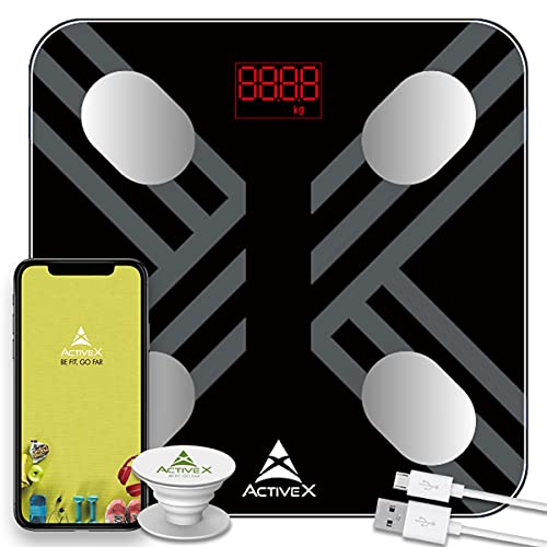ActiveX (Australia) Savvy Plus - Rechargeable Digital Body Composition Body Fat Scale With Free...
