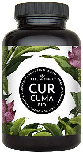 Bio Curcuma (Kurkuma) Kapseln - 240 Stück - 4560mg Bio Curcuma und schwarzer Pfeffer je Tagesdosis - Laborgeprüft. Ohne Magnesiumstearat. Vegan, hergestellt in Deutschland