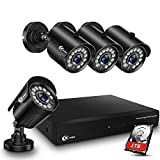 XVIM 8CH 1080P Security Camera System Home Security Outdoor 1TB Hard Drive Pre-Install CCTV Recorder 4pcs HD 1920TVL Upgrade Surveillance Cameras with Night Vision Easy Remote Access Motion Alert