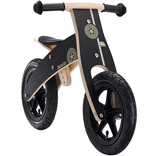 BIKESTAR Bicicletta Senza Pedali in Legno 3 - 4 Anni per Bambino et Bambina Bici Senza Pedali...
