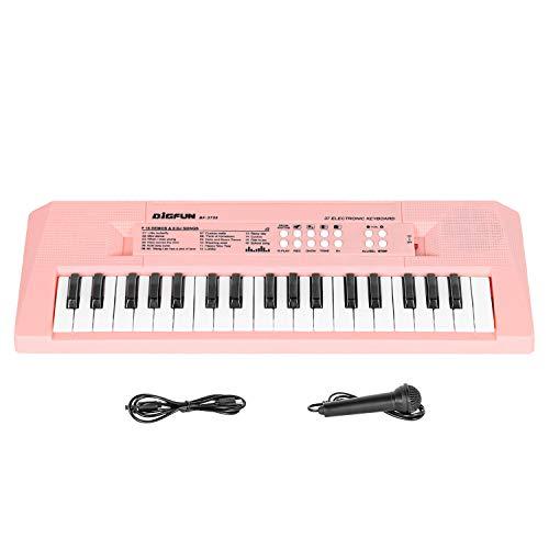 Shayson Tastiera di Pianoforte per Bambini 37 Tasti Tastiera Elettronica Musicale con Microfono Giocattoli Musicali Educativi Regali per 3-8 Anni Ragazze Ragazzi Principianti Rosa