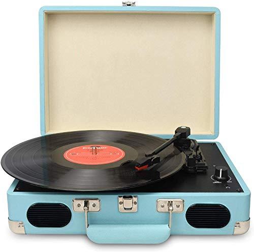 DIGITNOW! Platine Vinyle 3 Vitesses Tourne Disque avec Enceintes Intégrées, Vinyle à MP3 USB Retro Convertisseur