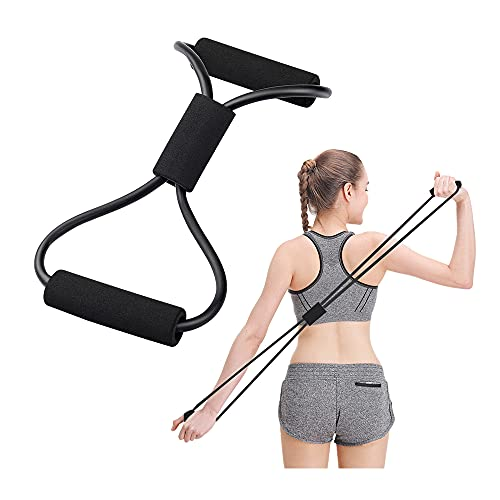 Figure 8 Shape Yoga Fitness Workout Toning Resistance Tube Exercise Band for Unisex Made in India Random Color