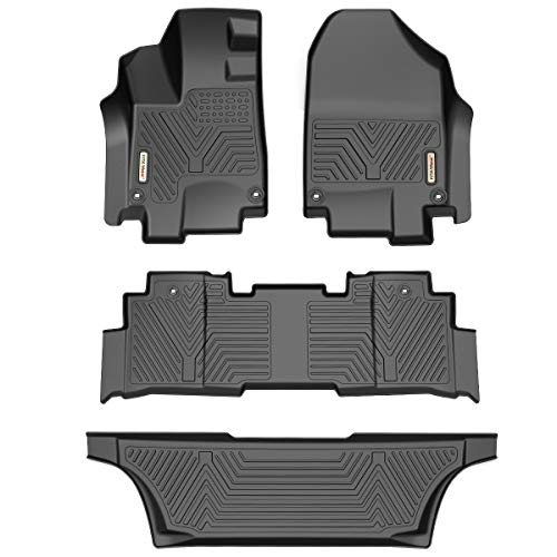 YITAMOTOR Floor Mats Compatible with Honda Odyssey, Custom Fit Floor Liners for 2018-2020 Honda Odyssey, 1st & 2nd Row All Weather Protection