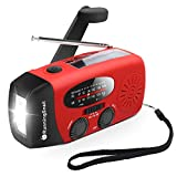 [Upgraded Version] RunningSnail Emergency Hand Crank Self Powered AM/FM NOAA Solar Weather Radio with LED Flashlight, 1000mAh Power Bank for iPhone/Smart Phone