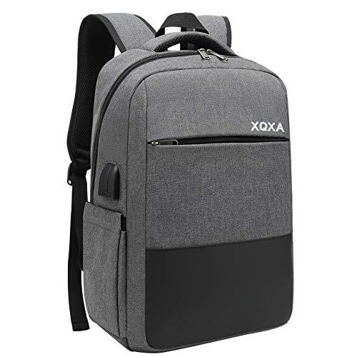 XQXA Zaino PC Portatili,Zaino antifurto Impermeabile Zaino per Laptop con Porta USB,Zaino per Computer Affari da 15.6 Pollici Notebook,Zaino Lavoro Uomo per Scuola Viaggio