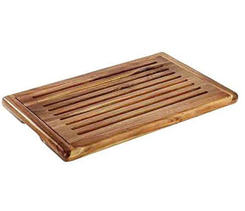 Brotschneidebrett'AKAZIA' aus Holz, stapelbar, herausnehmbares Krümelfach, 4 Antirutschfüßchen, Akazienholz   SUN (A1-47,5 x 32 cm)