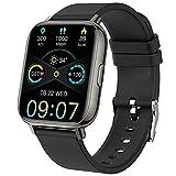 Montre Connectée Homme Femmes, Smartwatch 1,69' Montre Sport Podometre Cardiofrequencemètre Moniteur de Sommeil Etanche IP68 Montre Intelligente 24 Modes...