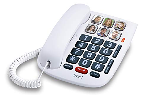 SMPL Hands-Free Dial Photo Memory Corded Phone # 56010,...