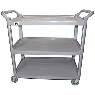 This handy multi-purpose utility cart is popularly used as a medical cart, food service cart, office supply cart, warehouse cart, library cart, school supply cart, and is even perfect for home use Made from heavy duty plastic (polypropelene) with lar...