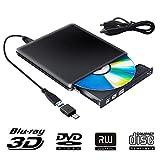 Externe Graveur Blu Ray 3D Lecteur CD DVD USB 3.0, Ultra Slim de Portable DVD...