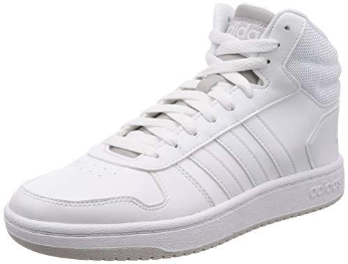 adidas Hoops 2.0 Mid, Herren Basketballschuhe, Weiß (Blanco 000), 44 EU