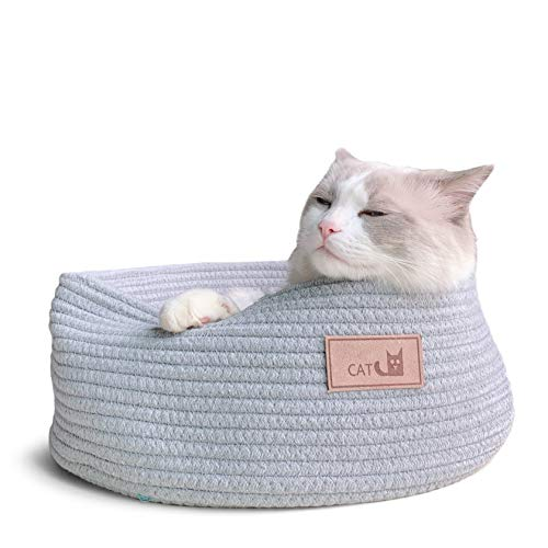 Prima Cat Cuddle Cup Basket Bed Round Shape Cotton Chew Resistant for Puppy Small Dog Pet